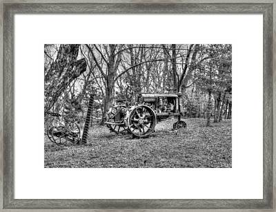 Old Tractor Framed Print by Heather Allen
