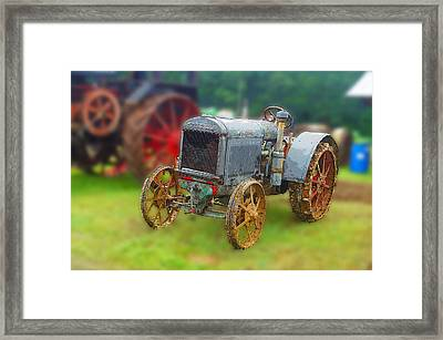Framed Print featuring the photograph Old Tractor Print by B Wayne Mullins
