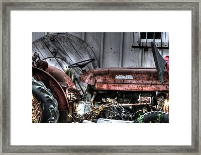 Old Tractor - Series Xiv Framed Print