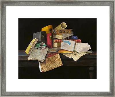 Framed Print featuring the painting Old Traditions by Barry Williamson