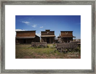 Old Trail Town Framed Print by Juli Scalzi