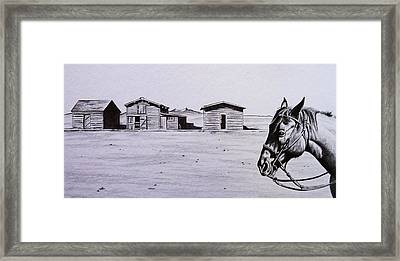 Old Trail Town Framed Print