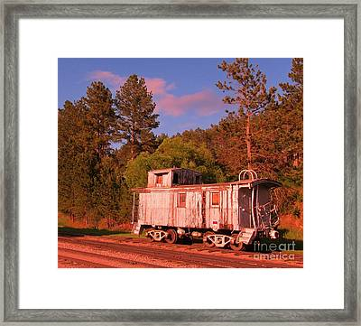 Old Train Caboose Framed Print by John Malone