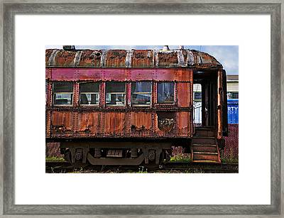 Old Train Car Framed Print by Garry Gay