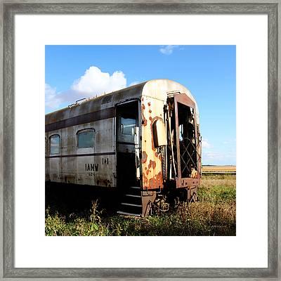 Old Train Car Framed Print