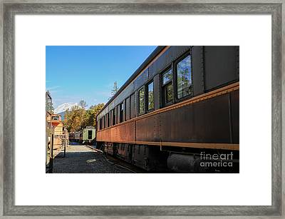Old Train Coach Framed Print by Malu Couttolenc