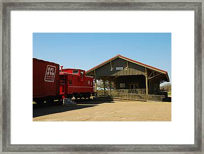 Old Train Depot 06 Framed Print by Andy Savelle