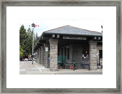 Old Train Depot At Historic Railroad Square Santa Rosa California 5d25877 Framed Print