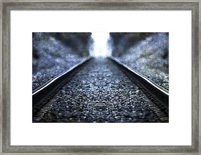 Old Train Tracks Framed Print by Dan Sproul