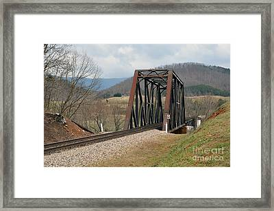 Old Train Trestle Framed Print by Brenda Dorman