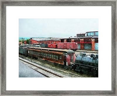Old Train Yard Framed Print by Susan Savad