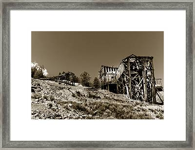 Old Tramway Headhouse Framed Print by Robert Bales