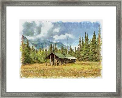 Old Trappers Cabin Framed Print