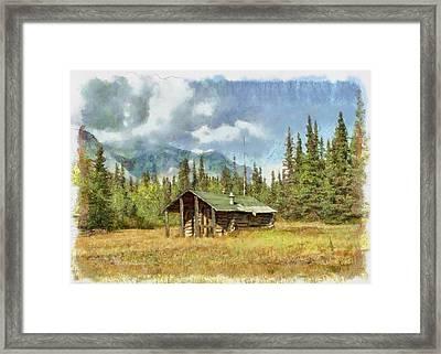 Old Trappers Cabin Framed Print