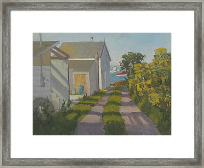 Old Traps And Fish House Framed Print
