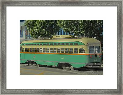 Old Trolley Car Framed Print by James Canning