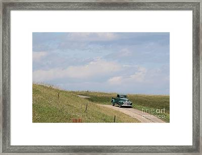 Framed Print featuring the photograph Old Truck by Ann E Robson