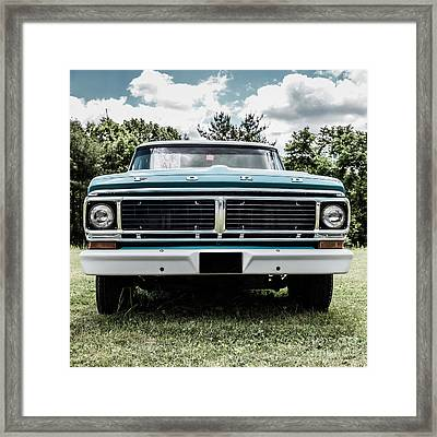 Old Ford Truck For Sale Framed Print by Edward Fielding