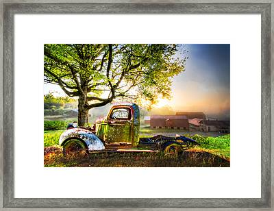 Old Truck In The Morning Framed Print