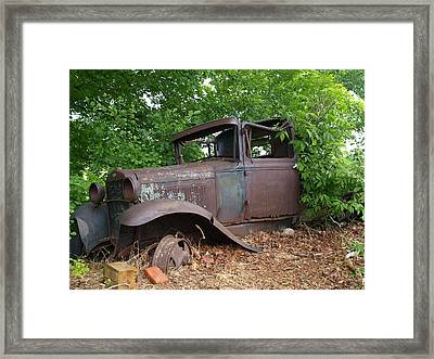 Framed Print featuring the photograph Retired In The Upper Peninsula by Jenessa Rahn