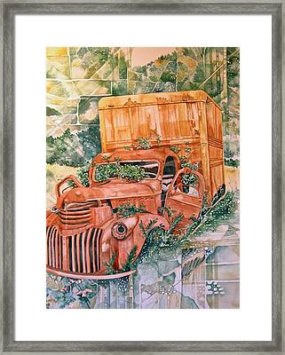 Old Truck Framed Print by Lance Wurst