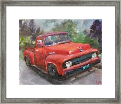Old Truck Framed Print by Lindsay Frost