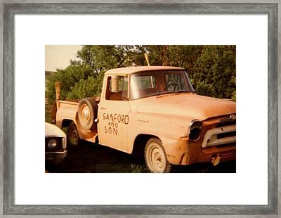 Old Truck Framed Print by Mavis Reid Nugent