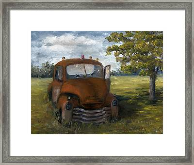 Old Truck Shreveport Louisiana Wrecker Framed Print