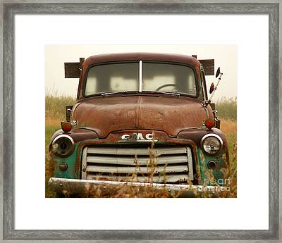 Old Truck Framed Print by Steven Reed