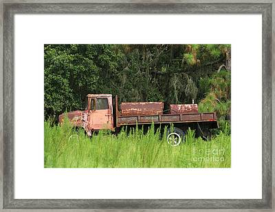 Old Truck Framed Print by Theresa Willingham