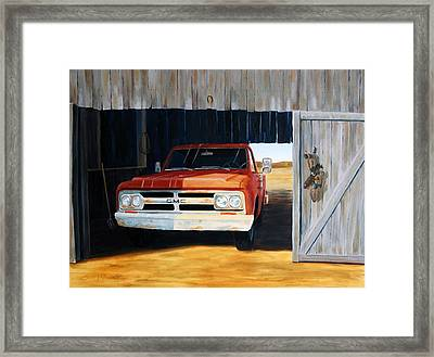 Old Trucks And Decoys Framed Print by Scott Alcorn