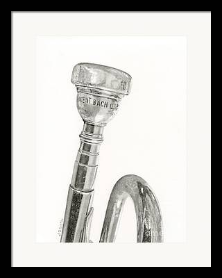 Marching Band Drawings Framed Prints