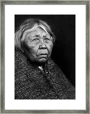 Old Twana Woman Circa 1913 Framed Print
