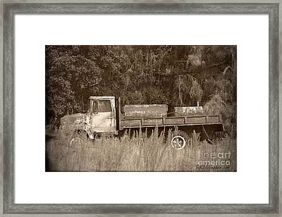 Old Tyme Truck Framed Print by Theresa Willingham