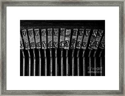 Old Typewriter Keys Framed Print by Edward Fielding