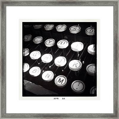 Old #typewriter @propagandadoughnuts Framed Print