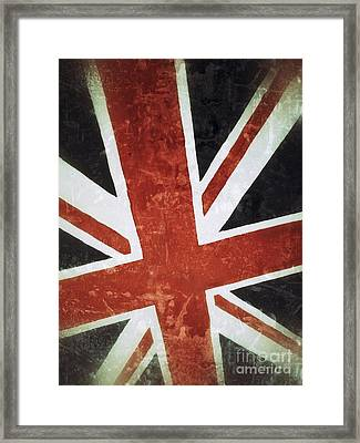 Old Uk Flag Framed Print by Carlos Caetano
