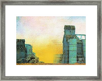 Old Used Grain Elevator Framed Print by Janette Boyd