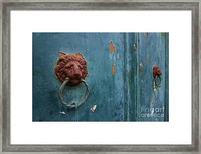 Old Venetian Door Knocker Framed Print