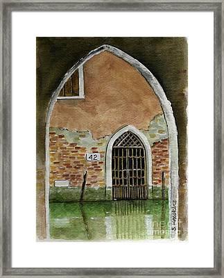 Old Venetian Doorway Framed Print