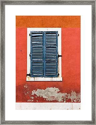 Old Venetian Window Framed Print