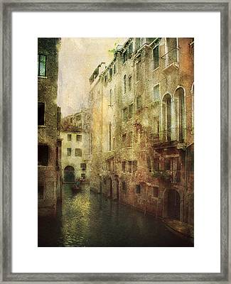 Old Venice Framed Print by Julie Palencia