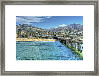 Old Ventura City From The Pier Framed Print
