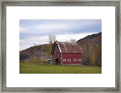 Old Vermont Barn Framed Print