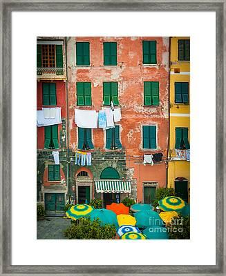 Old Vernazza Framed Print