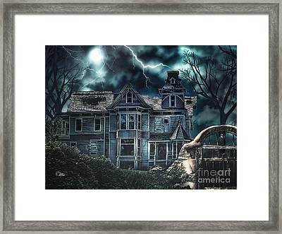 Old Victorian House Framed Print by Mo T