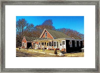 Old Village Store Framed Print