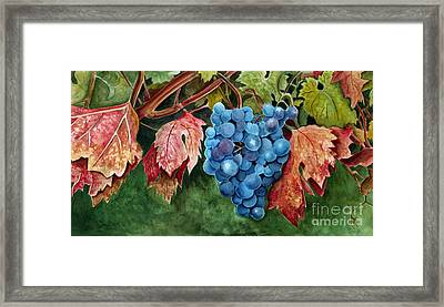 Framed Print featuring the painting Old Vine Zinfandel by Debbie Hart