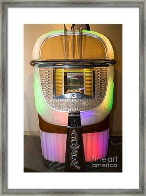 Old Vintage Ami Jukebox Dsc2775 Framed Print by Wingsdomain Art and Photography