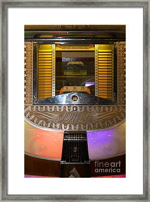 Old Vintage Ami Jukebox Dsc2776 Framed Print by Wingsdomain Art and Photography